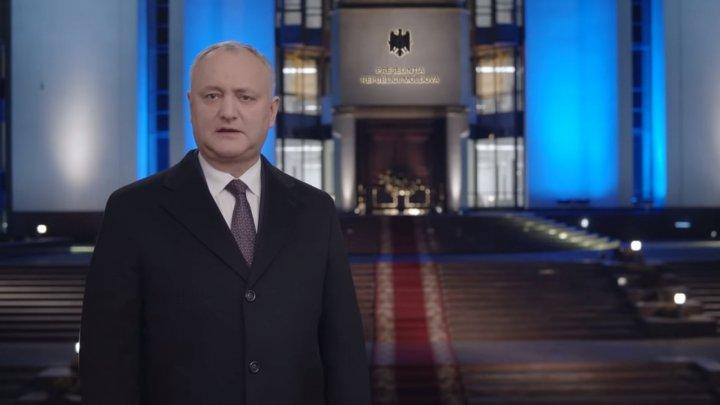 Новогоднее поздравление от президента Игоря Додона гражданам Молдовы