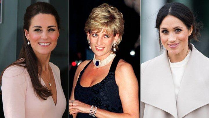 Меган Маркл и Кейт Миддлтон восемь раз надевали украшения принцессы Дианы