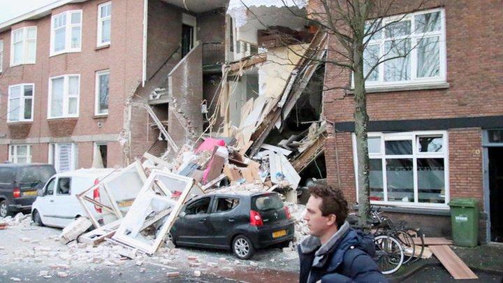 Взрыв в Гааге спровоцировал обрушение