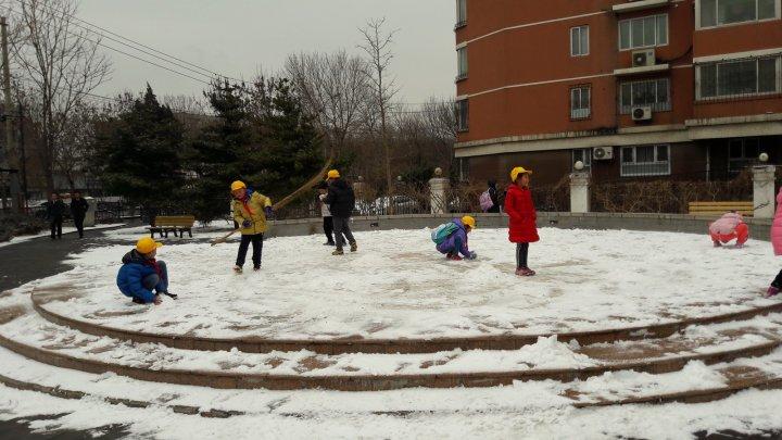 На Пекин обрушился снегопад