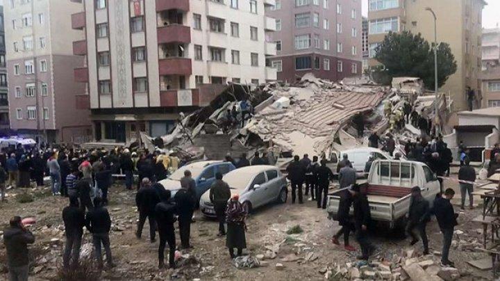 В Стамбуле рухнуло шестиэтажное здание: есть жертвы (фото)