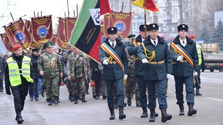 В Кишиневе прошел марш памяти воинов, павших при исполнении долга в Афганистане (фото)