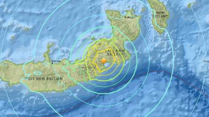 В Папуа – Новой Гвинее произошло землетрясение