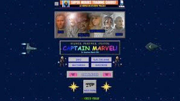 """Marvel запустила официальный сайт фильма """"Капитан Марвел"""" в стиле 90-х"""