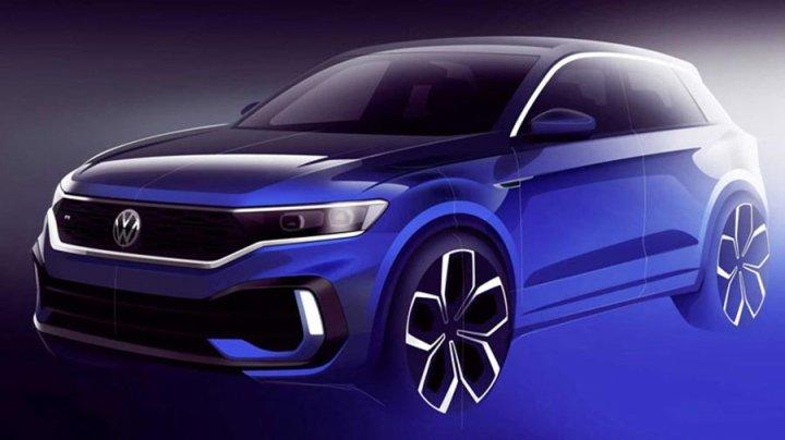 Volkswagen показал эскиз нового кроссовера T-Roc R