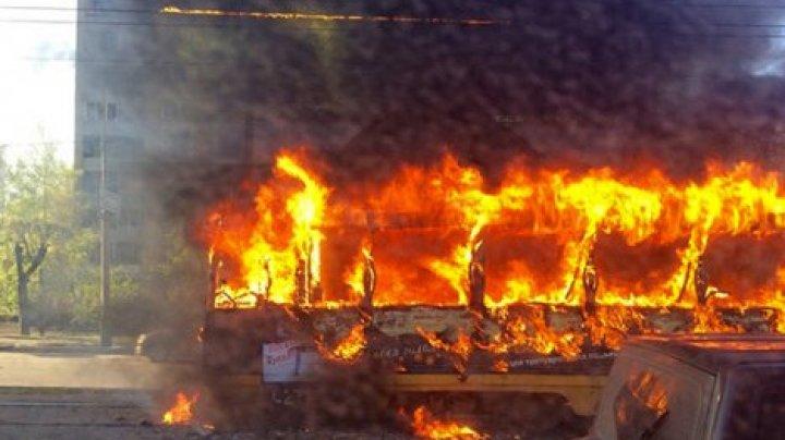 В Казани загорелся трамвай с пассажирами