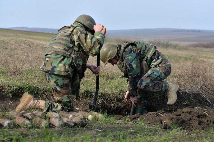 В поле близ села Марьянка де Жос в районе Штефан-Водэ саперы обнаружили 234 снаряда (фото)