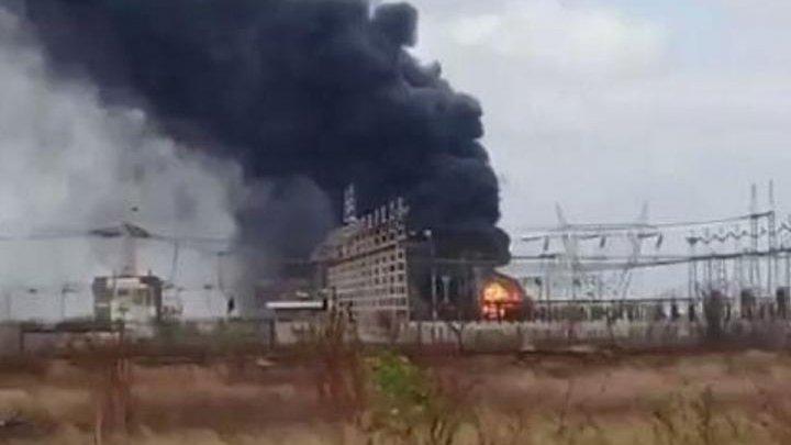 В Венесуэле на электроподстанции вспыхнул пожар