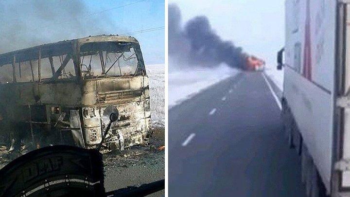 Туристический автобус загорелся на скоростной трассе в Китае: 26 погибших