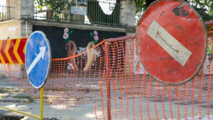 Ограничение движения на столичной улице Тигина продлено до 15 мая