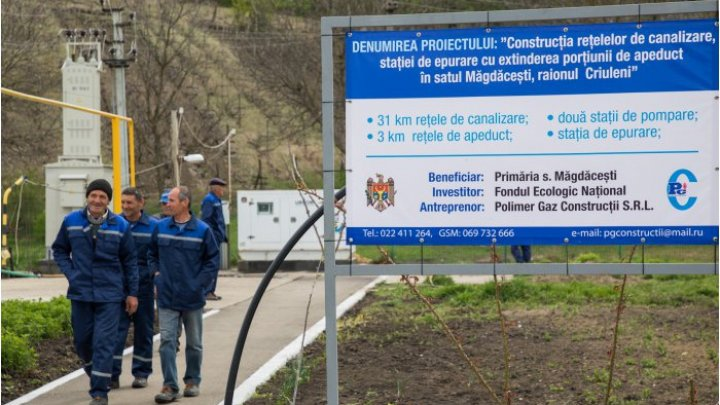 Село Магдачешты подключили к водопроводу и канализационной сети