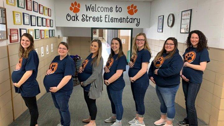 В школе США одновременно забеременели семь учительниц