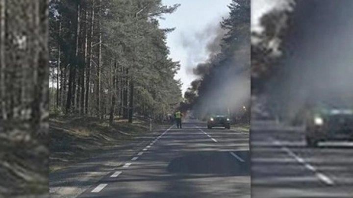 В Польше загорелся грузовик армии США, есть пострадавшие