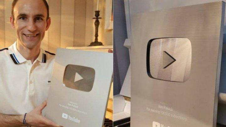 """Ион Палади был награжден """"Серебряной кнопкой"""" от YouTube"""