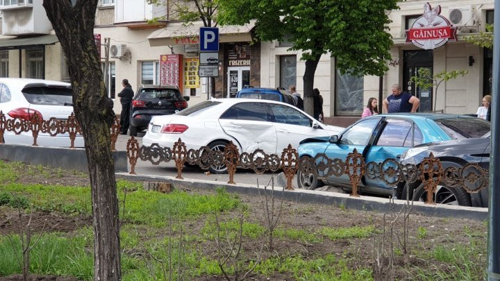 На бульваре Григоре Виеру произошла авария