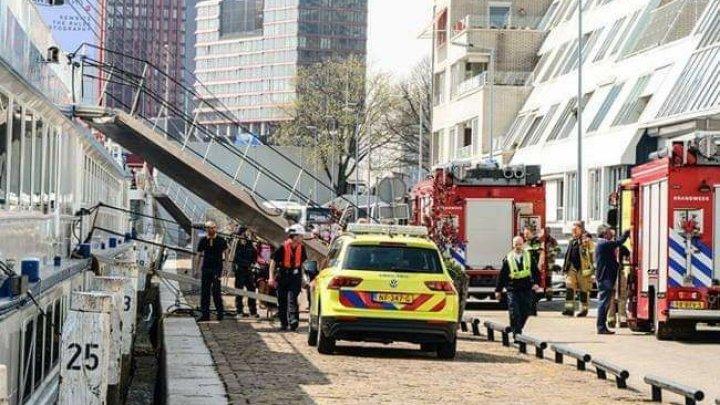 В Нидерландах круизный лайнер столкнулся с кораблем: шесть раненных
