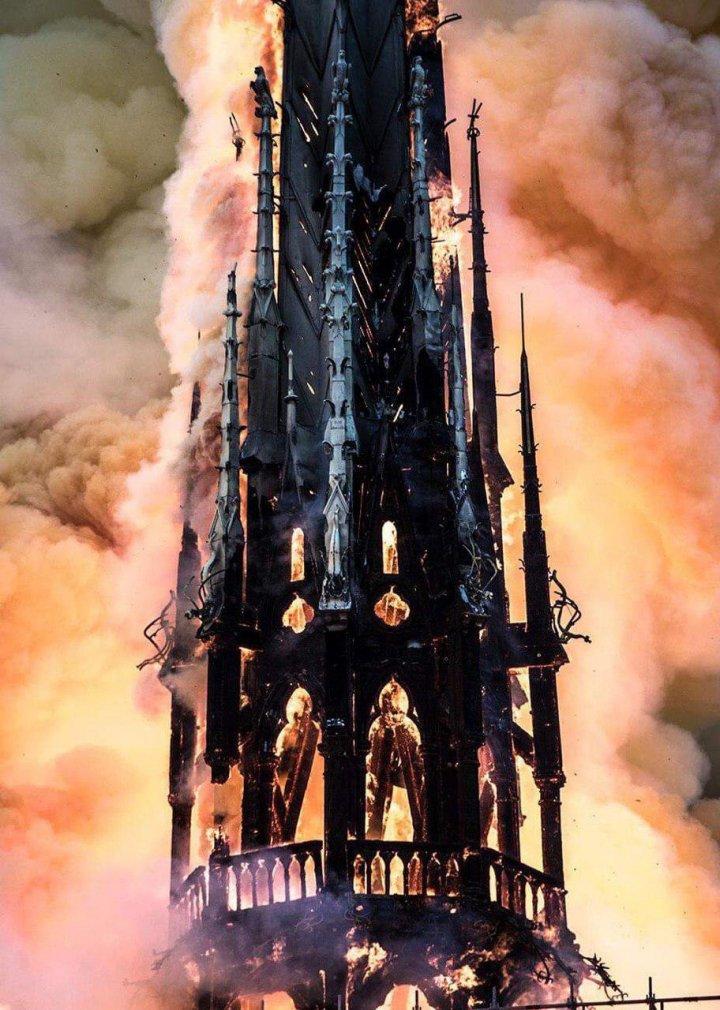 В Париже загорелся собор Парижской Богоматери (видео)