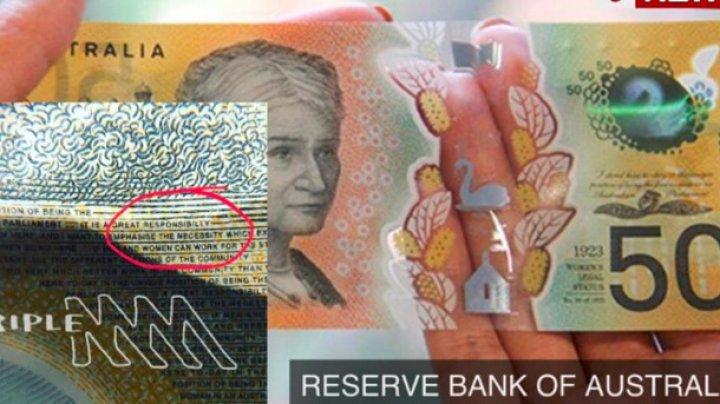 В Австралии выпустили 46 миллионов купюр с ошибкой