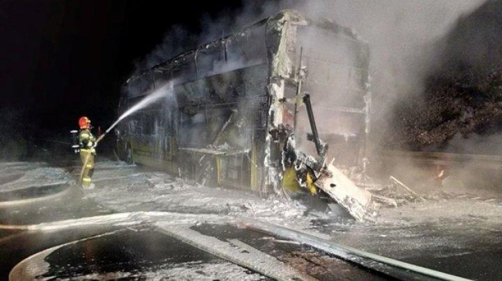В Польше сгорел автобус Киев-Прага
