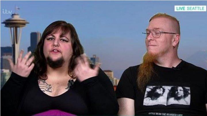 Бородатая американка вышла замуж за бородатого парня