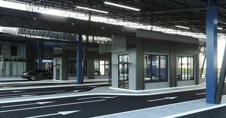 Как будет выглядеть модернизированный таможенный пункт Скулень (фото)