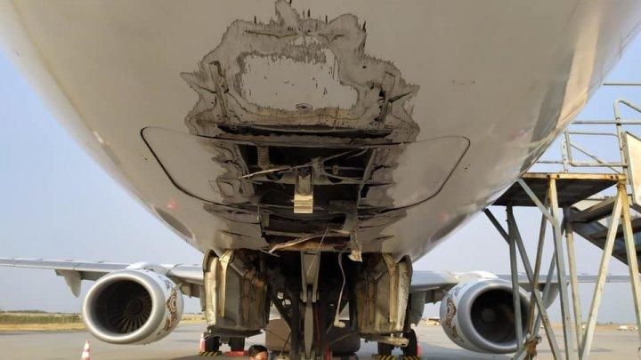 Пассажирский самолёт совершил аварийную посадку в Мьянме без шасси