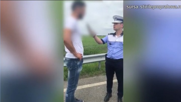 В Румынии водитель потерял сознание во время алкотеста (видео)