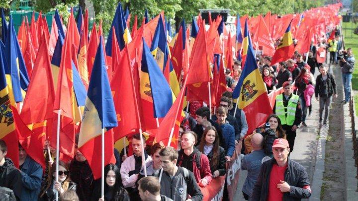 Партия социалистов выступила на первомайском митинге в столице