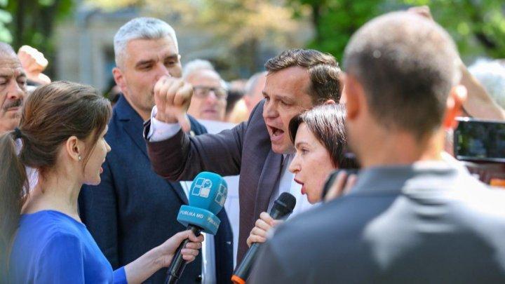 Лидер ППДП Андрей Нэстасе снова напал на журналиста Publika TV
