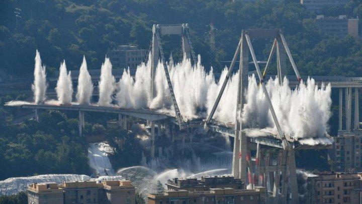 Мост Моранди в Генуе, который частично обрушился, демонтировали