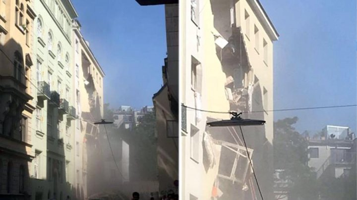 Жилой дом в Вене частично обрушился в результате взрыва