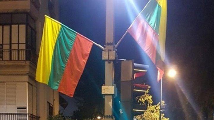 В Тель-Авиве по ошибке вывесили флаги Литвы вместо флагов ЛГБТ
