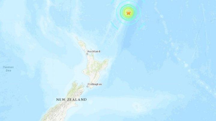 У берегов Новой Зеландии произошло сильное землетрясение