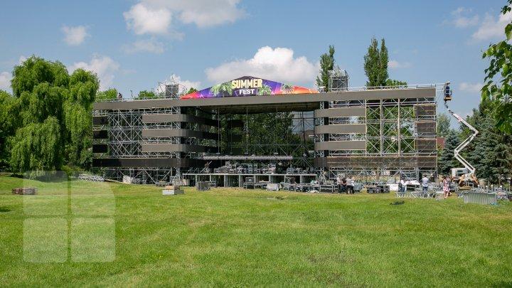 Подготовка к главному событию лета - Summer Fest в полном разгаре (фото)