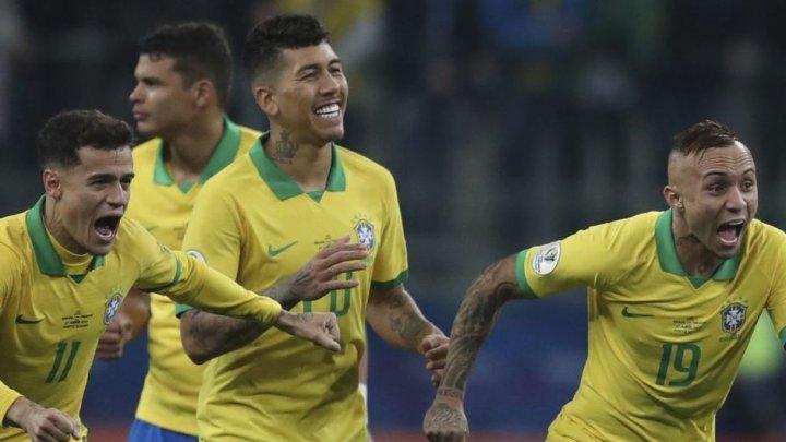 Сборная Бразилии по футболу с трудом пробилась в полуфинал Кубка Америки