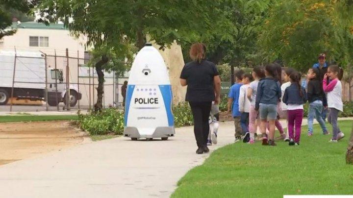 Робот-полицейский заступил на службу в калифорнийском городе Хантингтон Парк