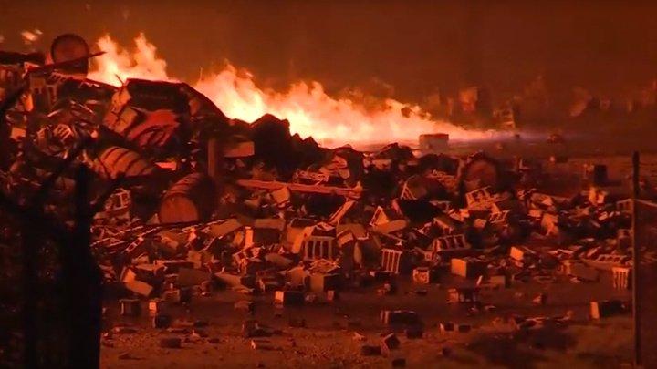 Пожар на складе Jim Beam в Кентукки уничтожил 45 тысяч бочек виски