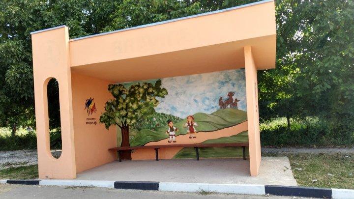 Остановка в селе Бравича стала произведением искусства
