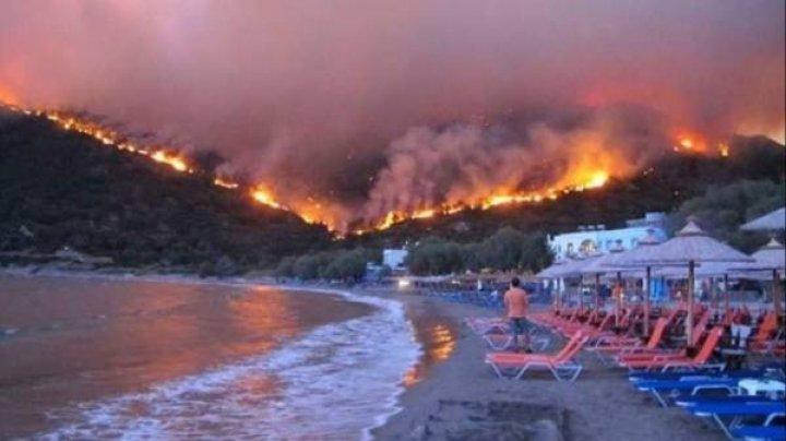 Лесные пожары на Самосе: Более тысячи людей эвакуировали