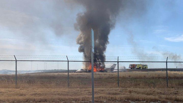 В аэропорту Калифорнии сгорел пассажирский самолёт