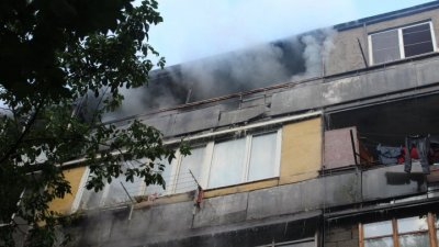 В многоэтажке на Рышкановке вспыхнул пожар: жильцы дома эвакуированы (фото)