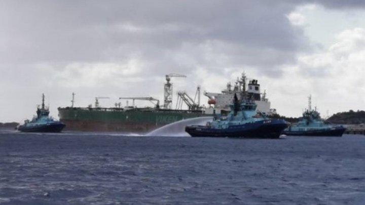 В Норвегии горит танкер с топливом