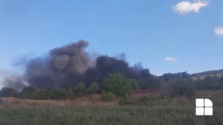 В Кожушне вспыхнул пожар на заброшенной ферме