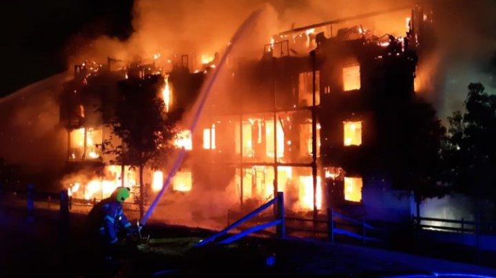 В Лондоне произошел крупный пожар: Сгорел многоквартирный дом