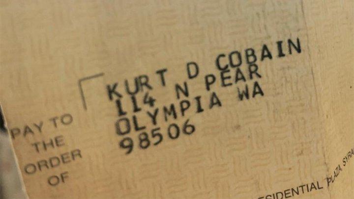 В Сиэтле нашли чек на имя Курта Кобейна