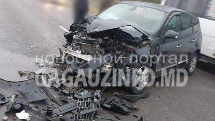 Вблизи села Конгаз легковой автомобиль столкнулся с трактором