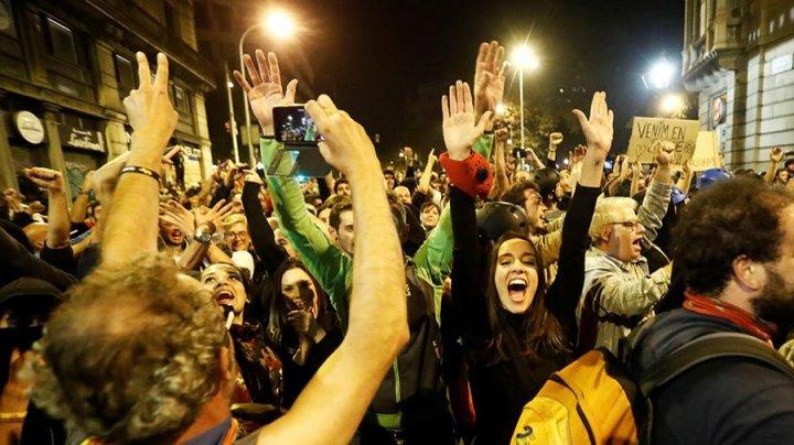 За неделю протестов в Каталонии пострадали почти 600 человек