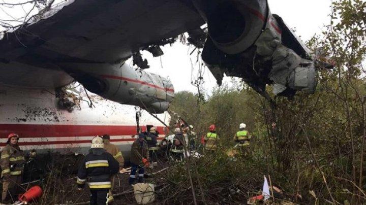 Появилось первое видео с места крушения самолета в Украине