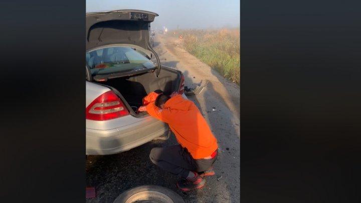 Серьезная авария в Страшенах: есть пострадавшие (ФОТО, ВИДЕО)