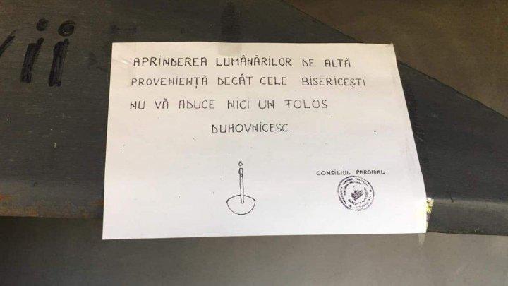 В одной из румынских церквей предупредили прихожан о том, что бывает при покупке свечей не в их приходе